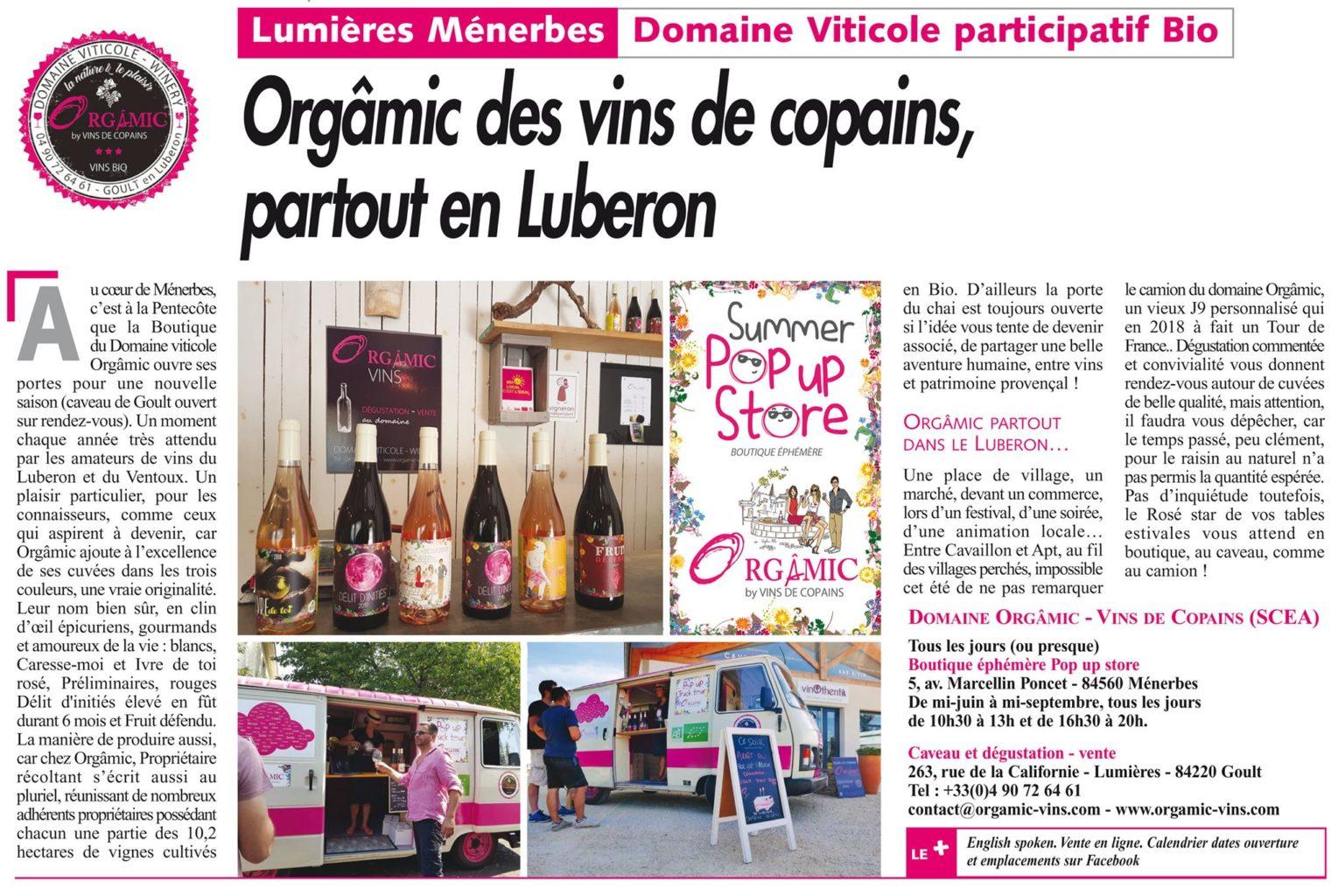 Ouverture du Pop-up store de Ménerbes le 9 juin 2019